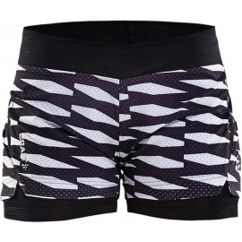 Craft BREAK 2IN1 SHORT W - Women's running shorts with inner boxers