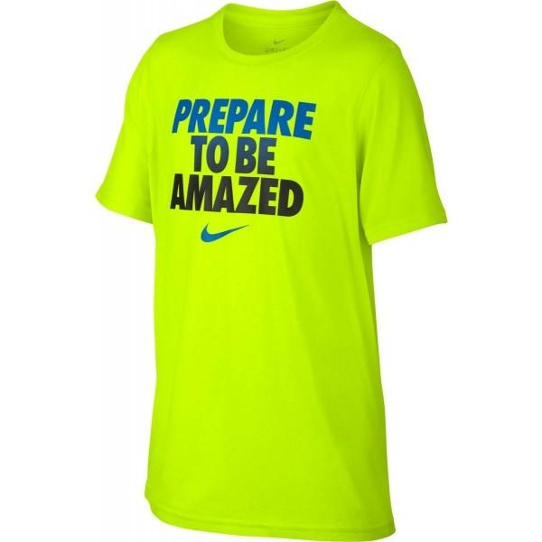 Nike DRY LEG TEE TO BE AMAZED jasnozielony M - Koszulka chłopięca