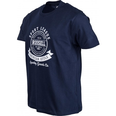 Men's T-shirt - Russell Athletic S/S CREW TEE WITH RAISED ROSETTE PRINT - 2