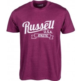 Russell Athletic S/S CREW NECK TEE WITH SCRIPT STYLE PRINT - Men's T-shirt
