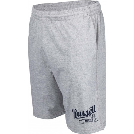 Men's shorts - Russell Athletic SHORTS WITH SCRIPT STYLE PRINT - 1