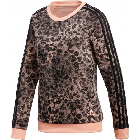 Women s sweater - adidas ESSENTIALS ALL OVER PRINTED SWEATSHIRT - 1 4f5d42b98485