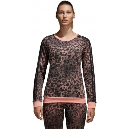 Women's sweater - adidas ESSENTIALS ALL OVER PRINTED SWEATSHIRT - 2
