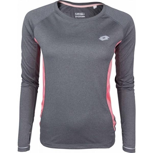 Lotto X RIDE III TEE LS W rózsaszín XL - Női sportpóló