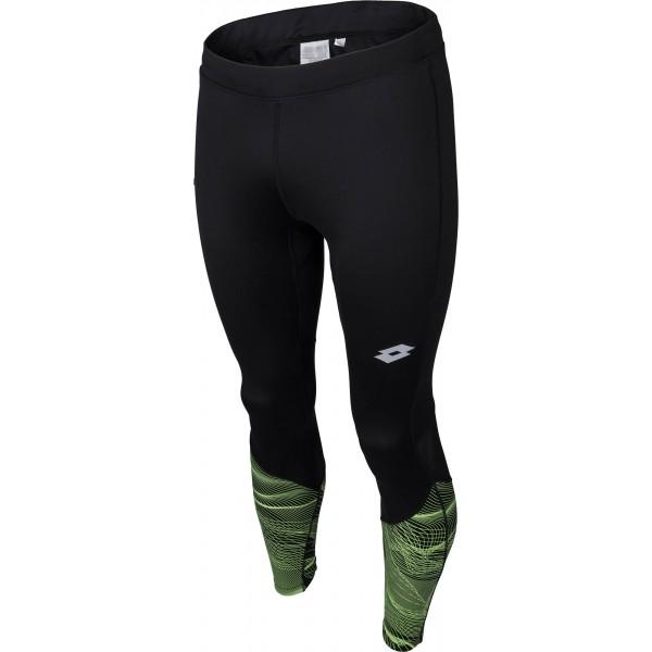 Lotto X RIDE III PANTS PRT czarny XL - Spodnie do biegania męskie