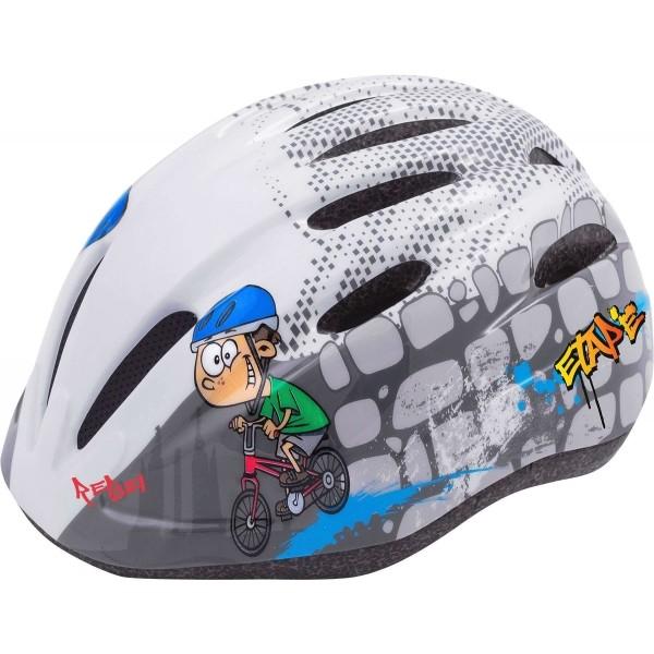 Etape REBEL fehér (52 - 56) - Gyerek kerékpáros sisak
