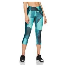 Under Armour SPEED STRIDE PRINTED CAPRI - Legginsy kompresyjne 3/4 damskie