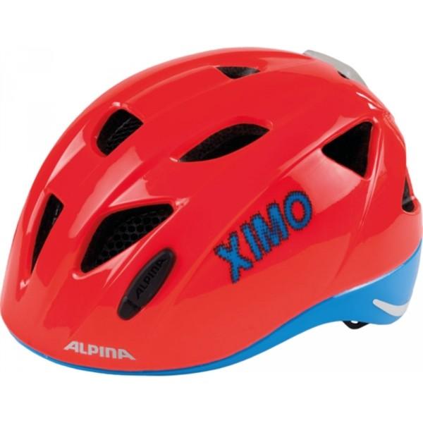 Alpina Sports XIMO FLASH B piros (47 - 51) - Gyerek kerékpáros sisak