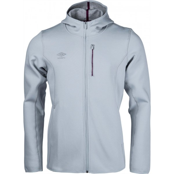 Umbro PRO FLEECE TRAINING HOODED JACKET šedá XXL - Pánská bunda