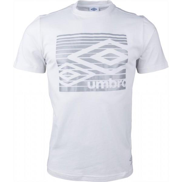 Umbro LINEAR LINES GRAPHIC TEE šedá M - Pánské tričko