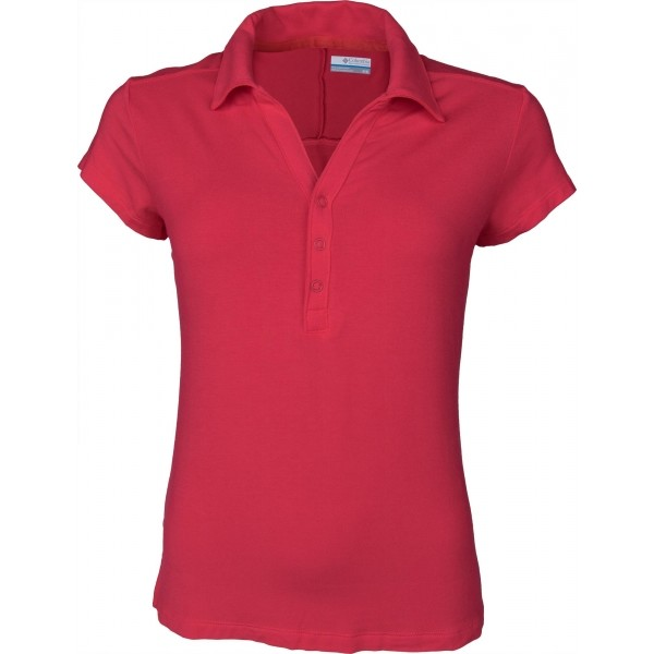 Columbia PACIFIC POLO červená M - Dámské polo tričko