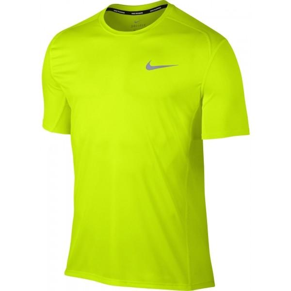 Nike DRY MILER TOP SS żółty XXL - Koszulka do biegania męska