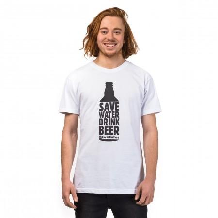 Tricou de bărbați - Horsefeathers SAVE WATER T-SHIRT - 1