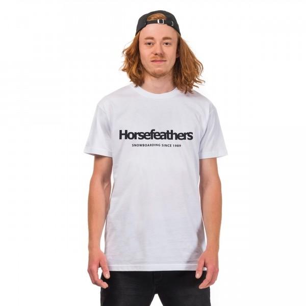 Horsefeathers QUARTER T-SHIRT bílá XL - Pánské tričko