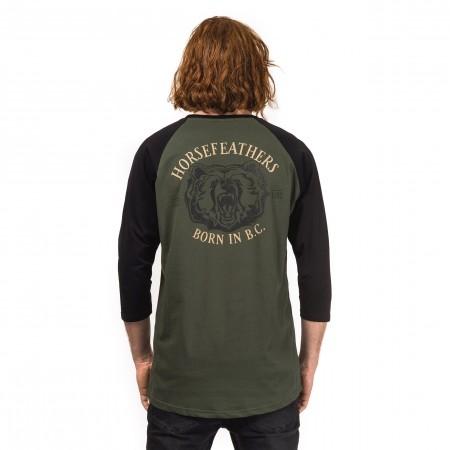 Tricou mâneci lungi de bărbați - Horsefeathers BEAR T-SHIRT - 2