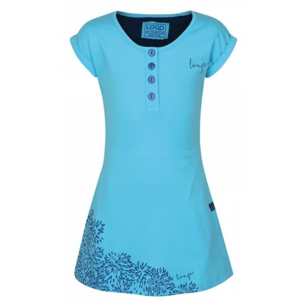 Loap INDRA kék 158-164 - Lányos ruha