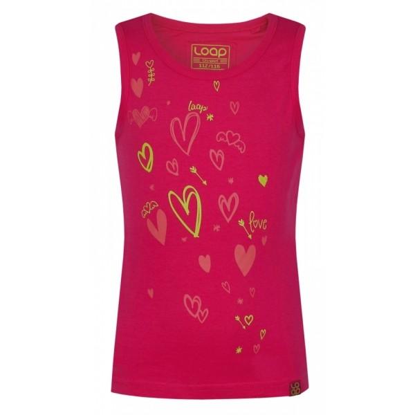 Loap IKUMA rózsaszín 146-152 - Lányos ujjatlan felső