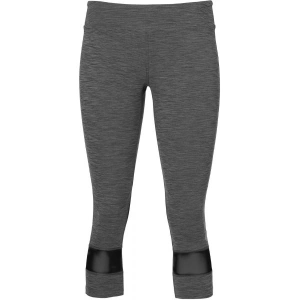 Asics MELANGE 3/4 TIGHT W šedá M - Dámské 3/4 kalhoty