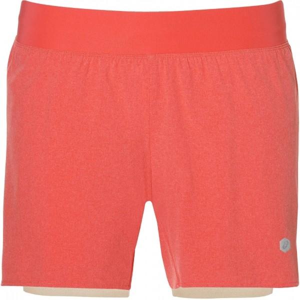 Asics 2N1 SHORT W oranžová XL - Dámské šortky