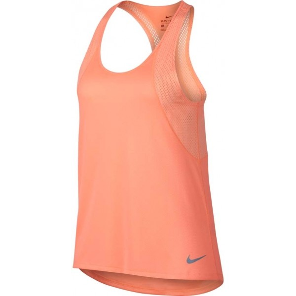 Nike RUN TANK różowy L - Koszulka sportowa damska