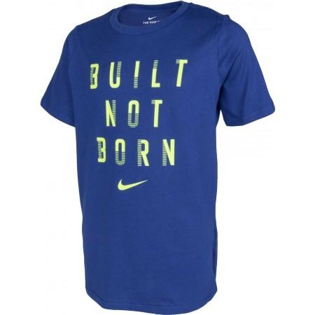 Jungen Kompressionsshirt - Nike DRY TEE BUILT NOT BORN B - 2