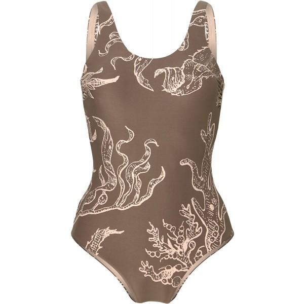 O'Neill PW MARISSA SWIMSUIT brązowy 40 - Strój kąpielowy jednoczęściowy damski