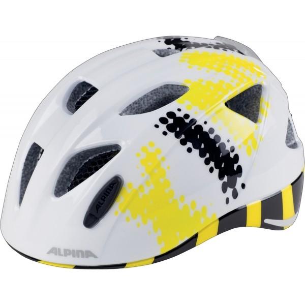 Alpina Sports XIMO FLASH B bílá (47 - 51) - Dětská cyklistická helma
