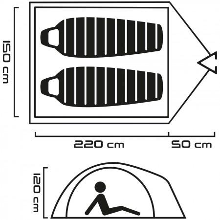 Outdoorový stan - Head SAWYER 2 - 7
