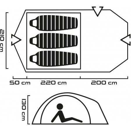Аутдор палатка - Head RIDLEY 3 - 9