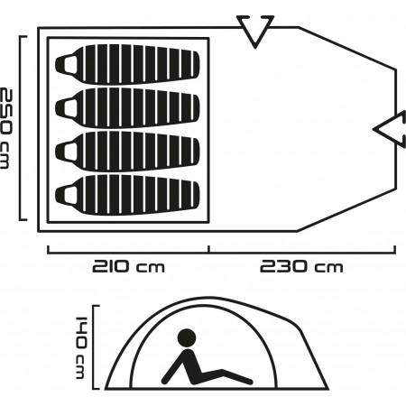 Outdoorový stan - Head NAVARA 4 - 6 f0efd150ee