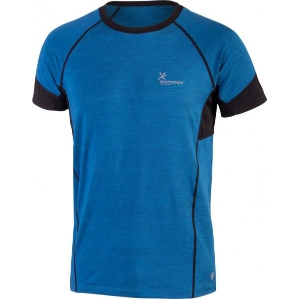 Klimatex ANTON niebieski M - Koszulka do biegania męska