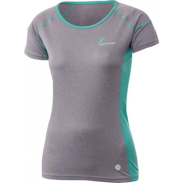 Klimatex ANFISA šedá L - Dámské běžecké tričko