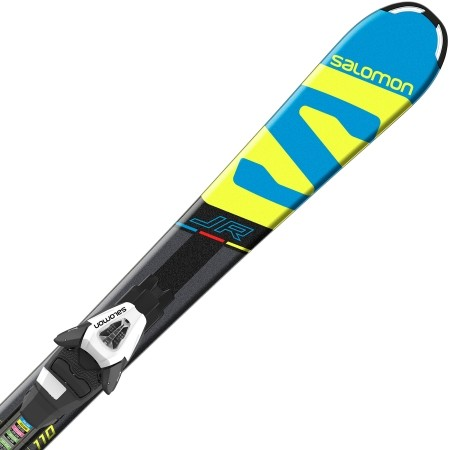 Juniorské sjezdové lyže - Salomon E X-RACE JR S + E C5 - 1