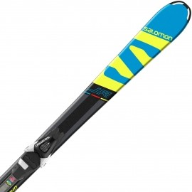 Salomon E X-RACE JR M + E L7 - Kids' downhill skis