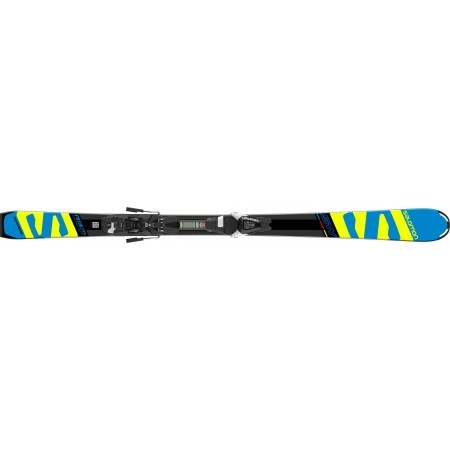 Juniorské sjezdové lyže - Salomon E X-RACE JR SW + E L7 - 4