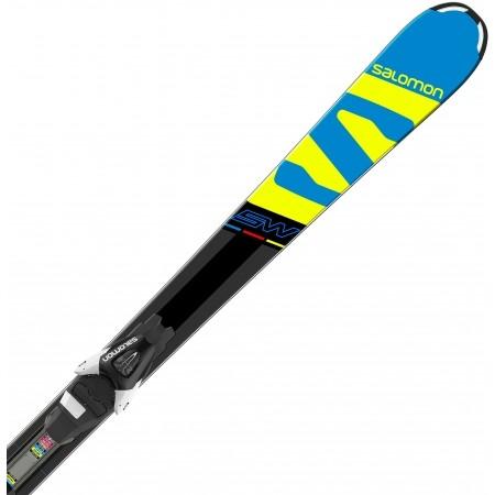 Juniorské sjezdové lyže - Salomon E X-RACE JR SW + E L7 - 3