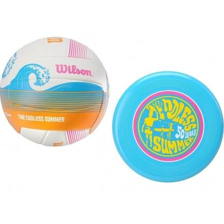 Волейболен комплект - Wilson ENDLS SUMR VBALL AIR DISC KIT - 1