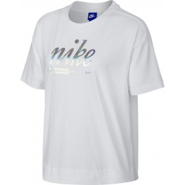 Nike SPOSTSWEAR TOP CROP METALLIC - Damenshirt