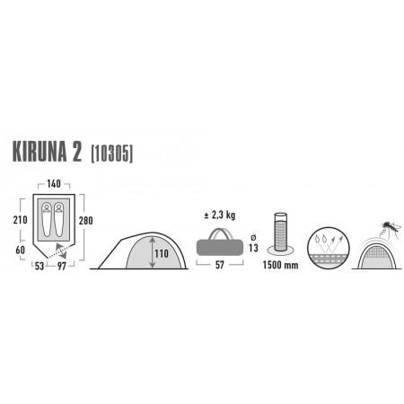 Turistický stan - High Peak KIRUNA 2 - 3