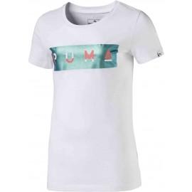 Puma STYLE GRAPHIC TEE 1 JR - Koszulka dziewczęca