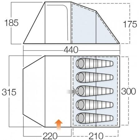 Rodinný stan - Vango SKYE 500 - 2