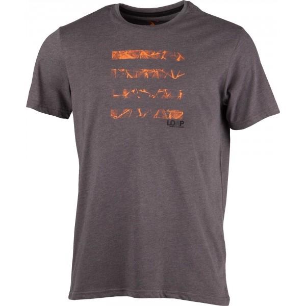 Loap BRAIDEN ciemnoszary L - Koszulka męska