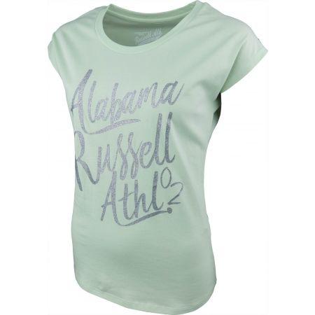 Tricou de damă - Russell Athletic S/S LOGO GREEN TEE - 2