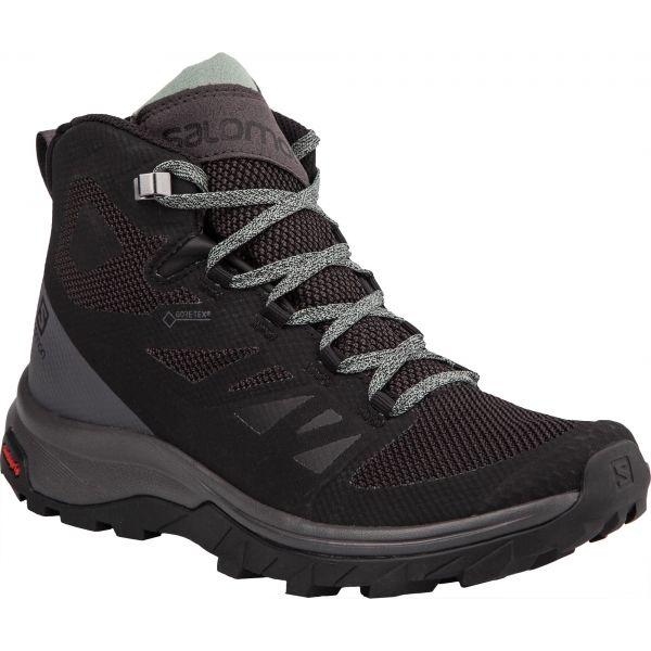 Salomon OUTLINE MID GTX W černá 5.5 - Dámská hikingová obuv