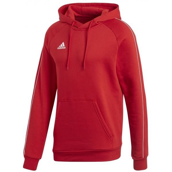 adidas CORE18 HOODY roșu S - Hanorac de bărbați
