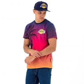 New Era NE NBA LOS ANGELES LAKERS COASTAL HEAT TEE - Koszulka męska