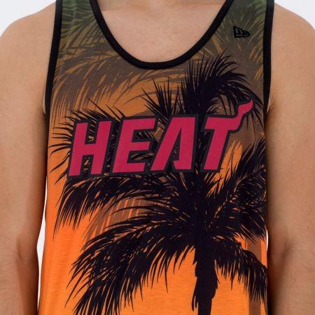 Men's tank top - New Era NE NBA MIAMI HEAT COASTAL HEAT TANK - 2