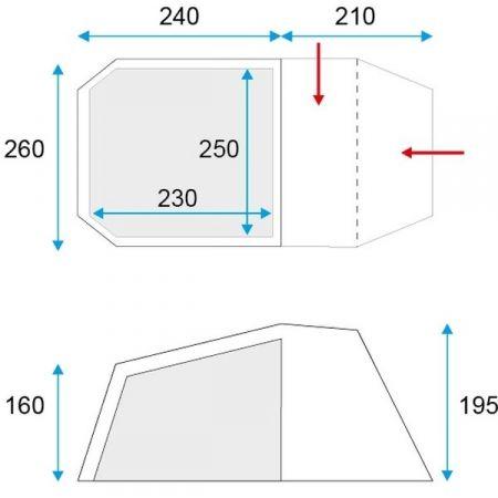Семейна палатка - Loap LOGAN 5 - 2