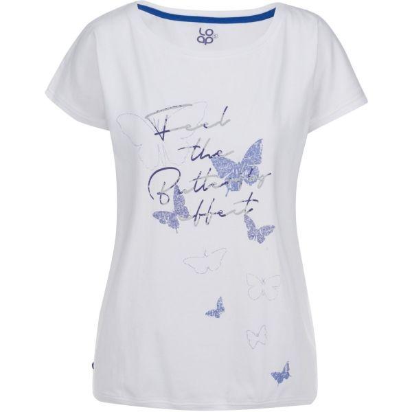 Loap BIRDIE biały L - Koszulka damska