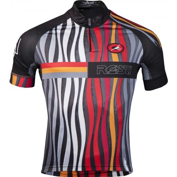 Rosti FUEGO KR ZIP černá 5xl - Pánský cyklistický dres